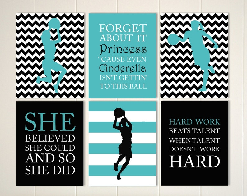 Inspirational quote art girls quotes wall art basketball   Etsy