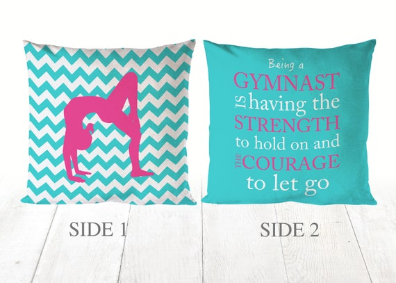 Decorative Throw Pillows Gymnastics Gift Girls Room Decor Etsy Enchanting Decorative Pillows For Teen Girls