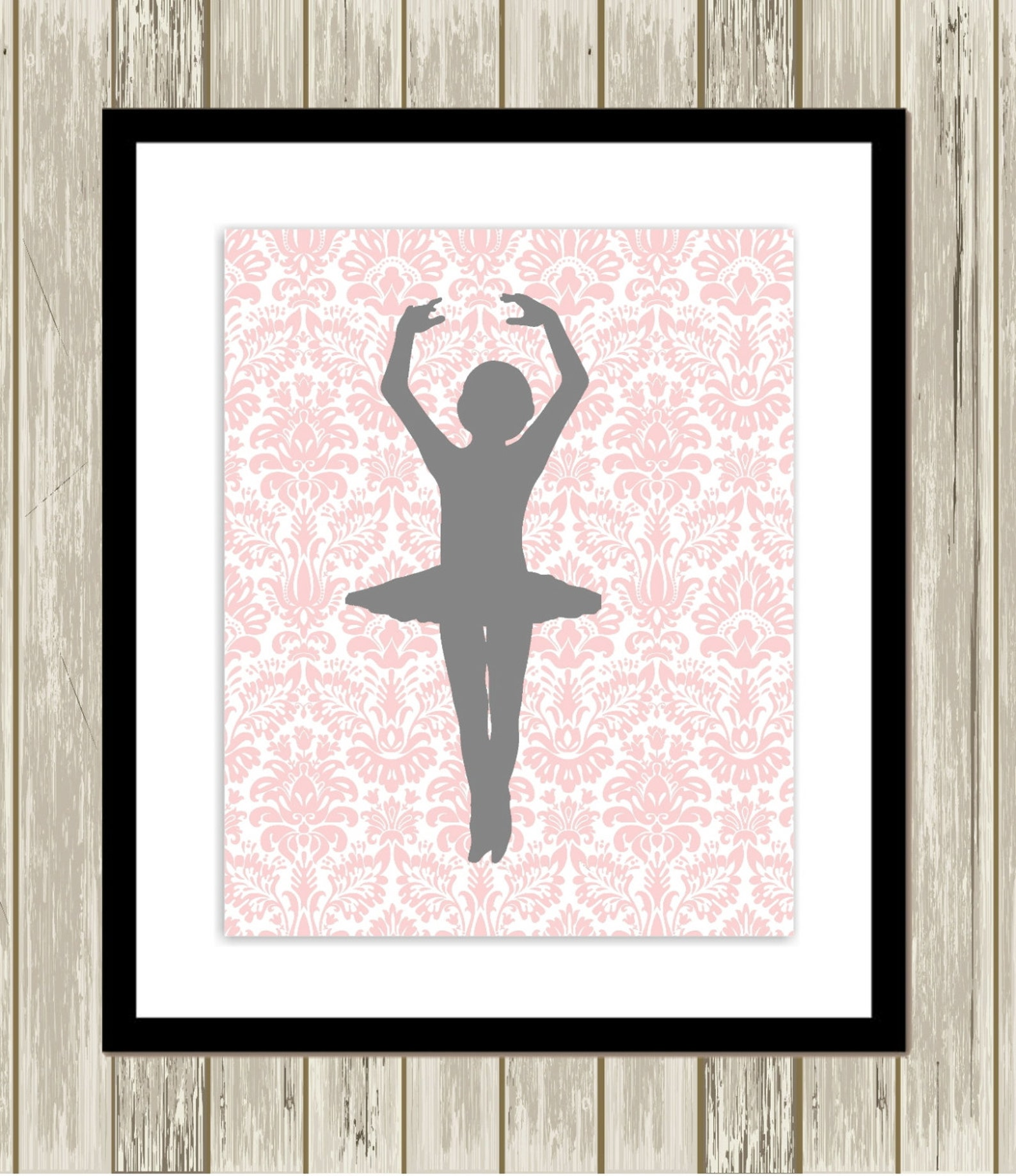 ballerina wall art, little girls room, little ballerina, baby girl nursery, polkadot nursery, ballet slippers, set of 3, custom