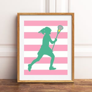 Teen lacrosse art | Etsy on lacrosse stick holder decor, lacrosse personalized wall decal, lacrosse boy bedroom,