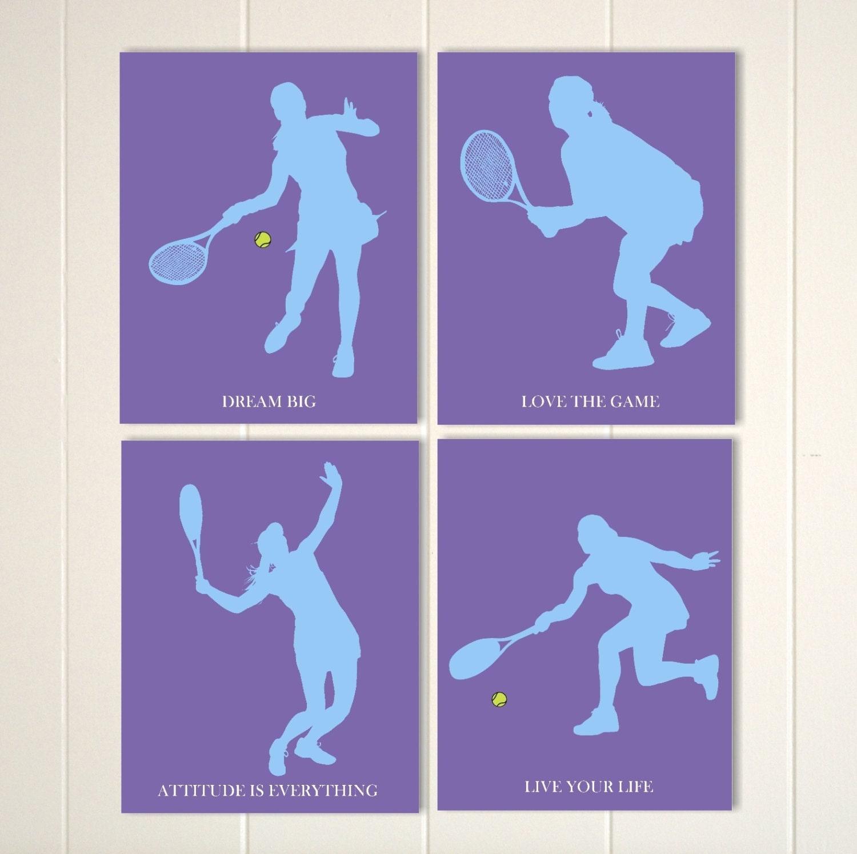 Tennis Girl Wall Art Tennis Room Decor Teen Girl Wall Art Etsy