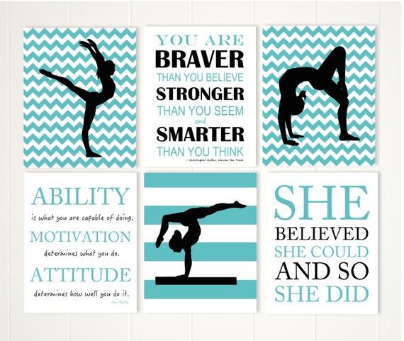 Gymnastics Quotes Gymnastics quotes pre teen girl wall art acrobatics acro | Etsy Gymnastics Quotes