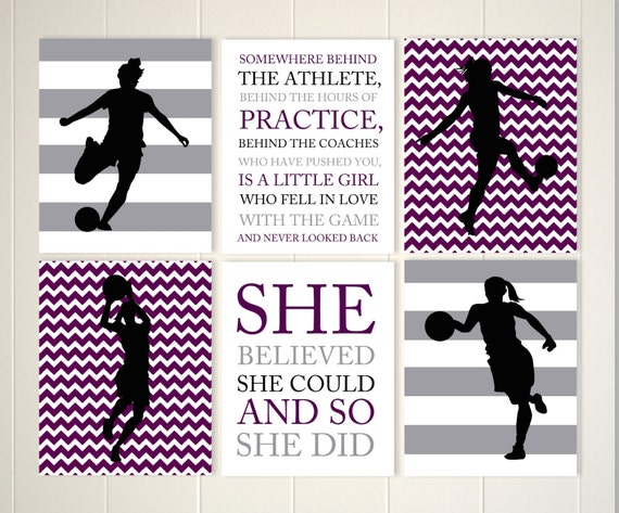 Soccer Girl Basketball Girl Girls Inspirational Quotes Teen Etsy