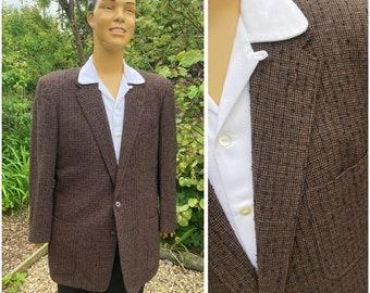 ORIGINAL 1950'S MEN'S FLECKED/Slub Sports/Box Jacket