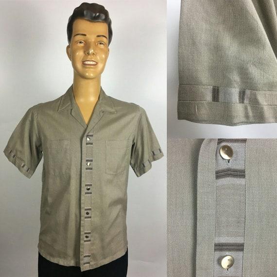 ORIGINAL 1950's MENS LEISURE Shirt - image 1