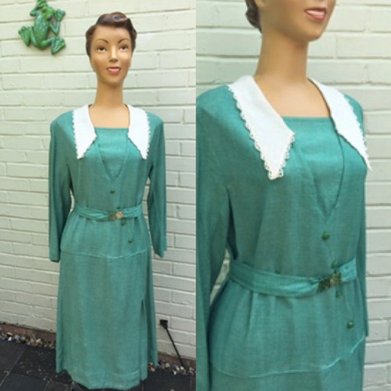 ORIGINAL 1920s/30s GREEN DRESS