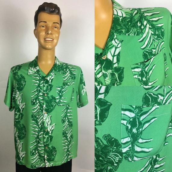 RAYON ALOHA HAWAIIAN Print Shirt