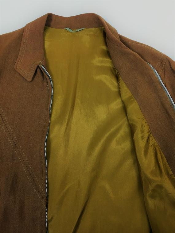 1950's LINEN RAYON RICKY Jacket - image 8