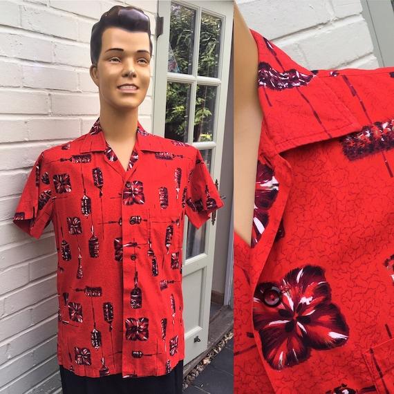 ORIGINAL 1950's 1960's JANTZEN PRINT Shirt