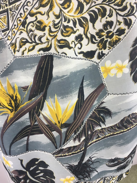 1950'S PENNEYS RAYON ALOHA Men's Hawaiian Shirt - image 7