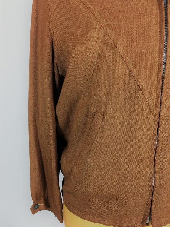 1950's LINEN RAYON RICKY Jacket - image 6