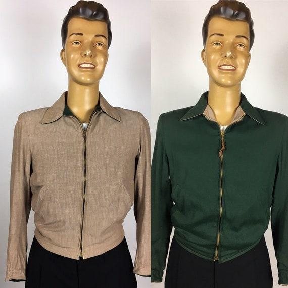 VINTAGE 1950's REVERSIBLE GABARDINE Jacket