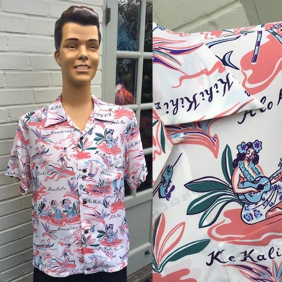 SUN SURF RAYON Aloha Men's Hawaiian Shirt