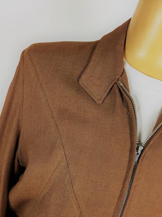 1950's LINEN RAYON RICKY Jacket - image 4