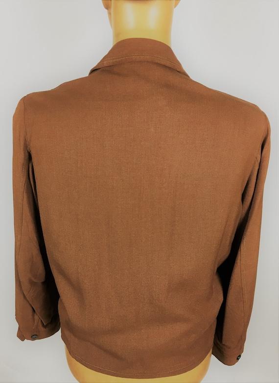 1950's LINEN RAYON RICKY Jacket - image 7