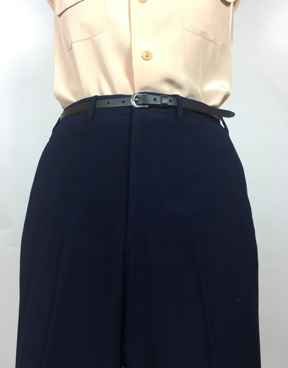 1950's MENS NAVY WOOL Trousers