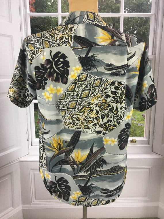 1950'S PENNEYS RAYON ALOHA Men's Hawaiian Shirt - image 6