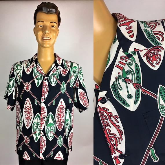 SUN SURF RAYON Aloha Men's Hawaiian Shirt Masks
