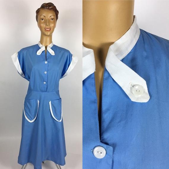 1940's/ 1950's COTTON SUMMER DRESS