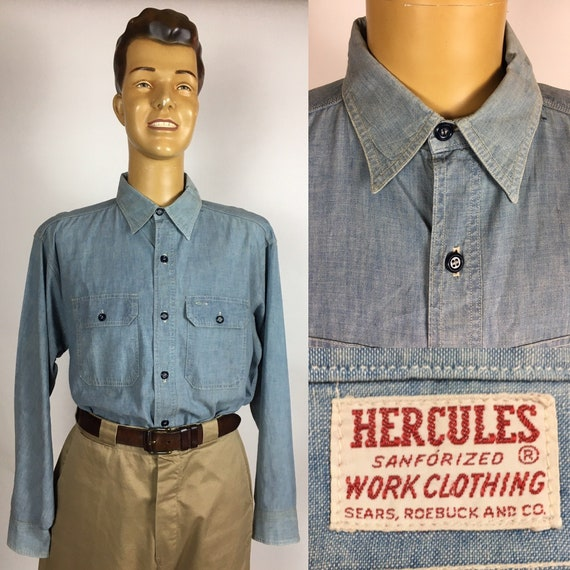 ORIGINAL 1950's HERCULES CHAMBRAY Work Shirt