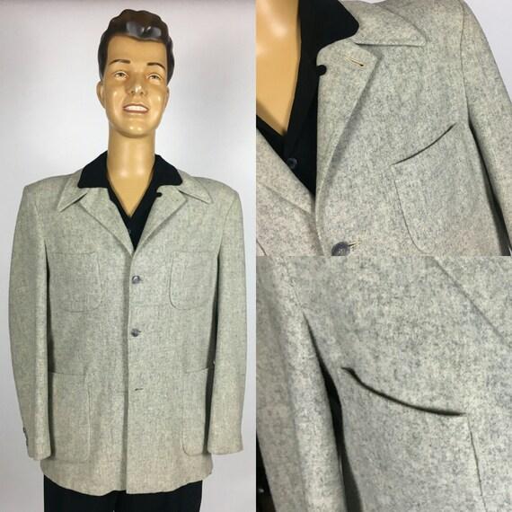 ORIGINAL 1940's 1950's HOLLYWOOD GREY Fleck Wool J