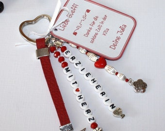 Keychain, gift for the educator, gift, pendant, say thank you,farewell gift educator