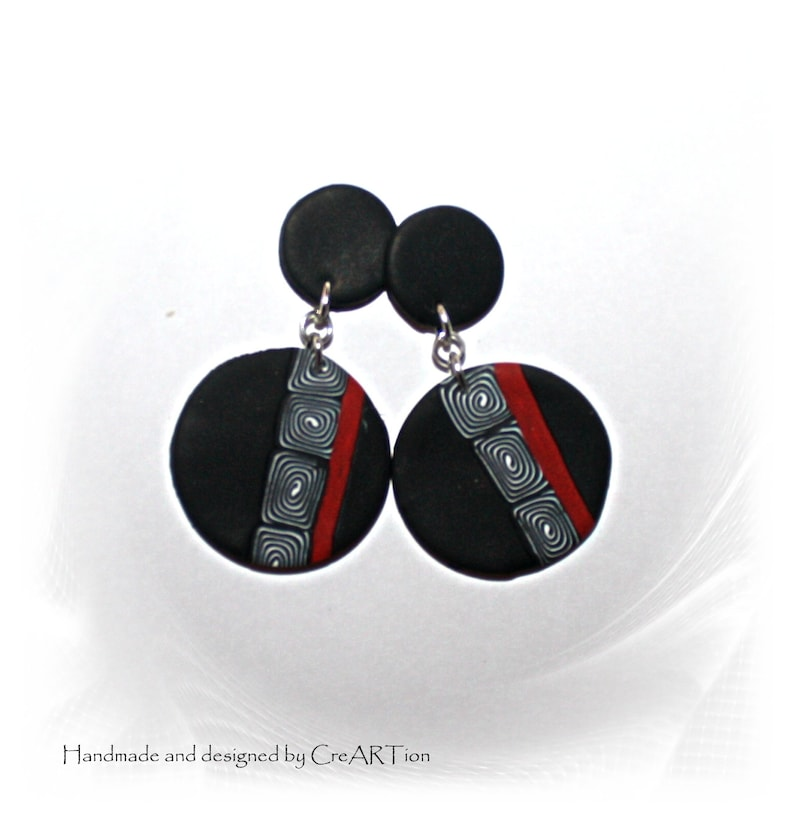 choker and hanging earrings 2 piece consisting of necklace and earrings set Jewelry set polymer clay,