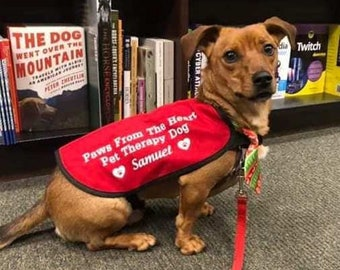 Paws from the Heart Pet Therapy Dog Jacket, Bandana or Face Mask