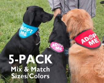 5-Pack ADOPT ME Bandana Scarf for Rescue Dogs