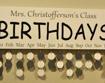 Classroom Birthday Board Calendar Organizer Fathers Day Gift
