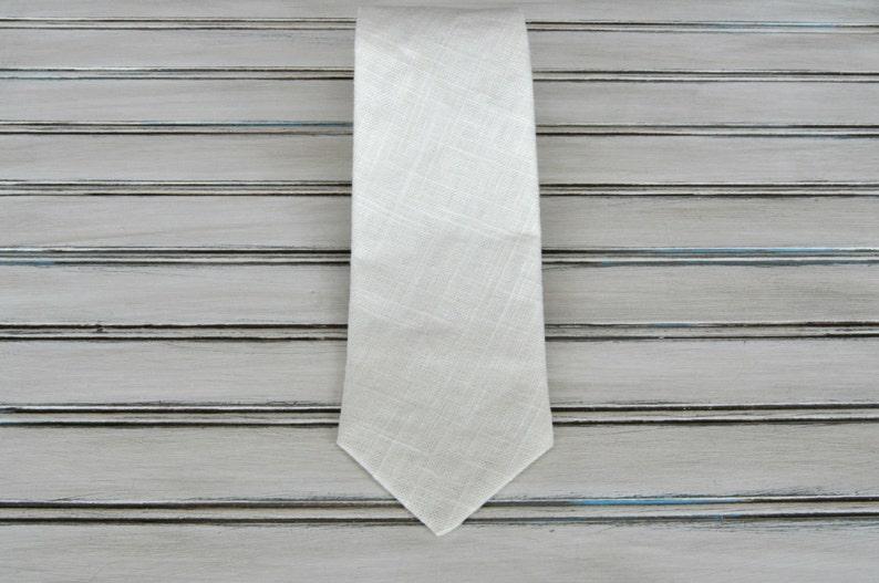 ed34790f5a290 Cream Linen Tie, Skinny, Regular or Boys sizes, Soft white for Wedding,  Groomsman, Ring Bearer, First Communion Tie, Ships Fast