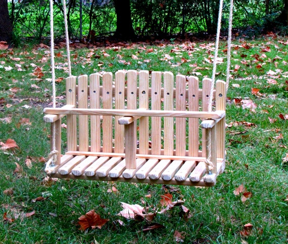 Phenomenal Pine Double Swing Kids Wooden Swing Backyard Outdoor Toys Toddler And Baby Swing Tree Swing Old Fashioned Handmade Children Toys Theyellowbook Wood Chair Design Ideas Theyellowbookinfo