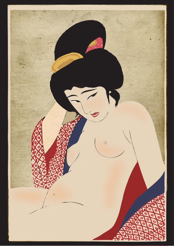 Nude japanese old paintings, joy of sex wife