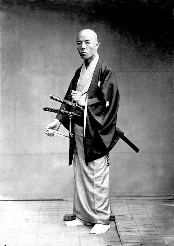 Vintage Samurai Art Photography Japanese Samurai With Katana Etsy