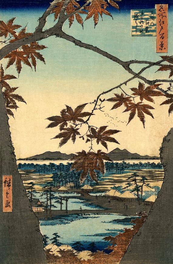 Japanese Art Fine Art Print Massaki View 100 Famous Edo Views Hiroshige
