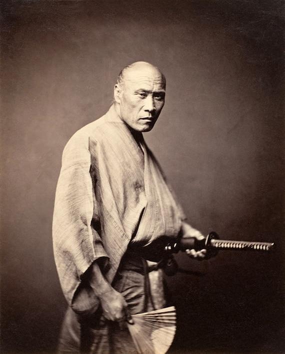 Vintage Samurai Art Photography Japanese Samurai Fine Art Etsy