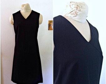 Vintage black dress // Midcentury dress // Vintage LBD // Cocktail dress // medium, large, 10, M, L