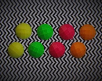 Neon Stud Earrings: Yellow, Green, Pink, or Orange!