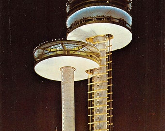 Observation Towers New York Worlds Fair 1964 - also MIB                     (chrome, unused)