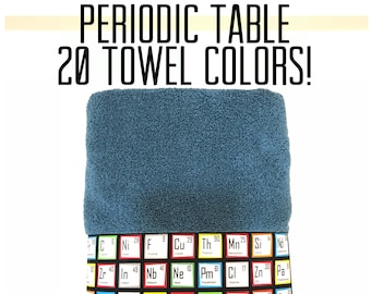 Periodic table etsy bath towels science chemistry nerd geek august ave periodic table urtaz Image collections