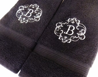 embroidered towel etsy
