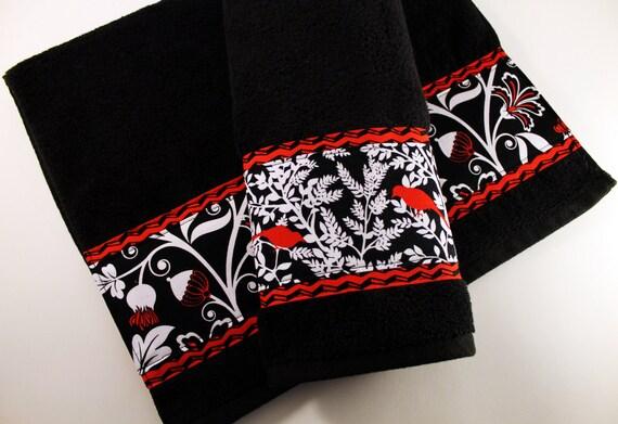 Red And Black Bath Towels Bathroom Towels Bath Towel Hand