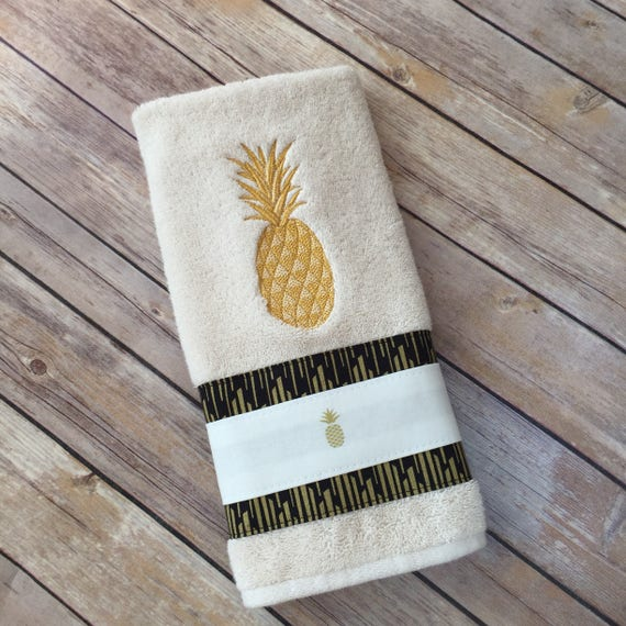 Pineapple Towels Gold Pineapple Hand Towels Bath Towels Etsy