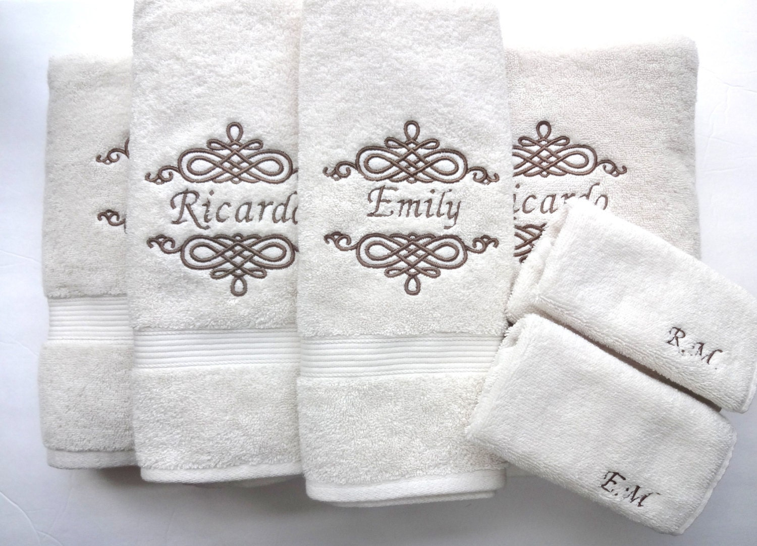 YOU PICK Size Personalized Bath Towels hand towel bathroom   Etsy