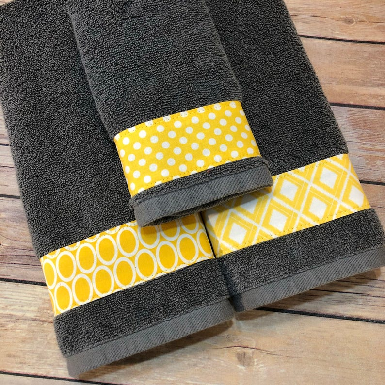 Wondrous Yellow And Grey Bath Towels Yellow And Grey Yellow And Gray Yellow Bathroom Grey Bathroom Decorated Towels August Ave Hand Towel Download Free Architecture Designs Estepponolmadebymaigaardcom