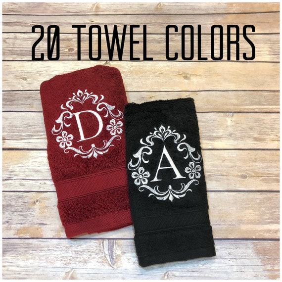 Custom Monogrammed Bath Towels 6 Sizes To Pick From Over