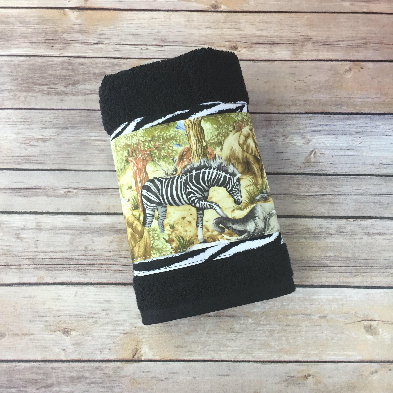 Zebra Bad Benutzerdefinierte Handtücher Safari Handtücher