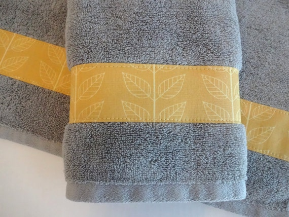Hand Towels Yellow And Grey Yellow Yellow Towels Grey And Etsy