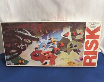RISK 1975 Parker Brothers Classic Game Of Strategy