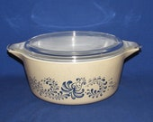 PYREX HOMESTEAD CASSEROLE 475 with Lid Free Shipping